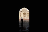 tourist stock photography | India, Agra, Taj Mahal and mosque entrance, image id 7-373-11
