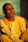 yellow stock photography | India, Agra, Monk meditating, image id 7-376-13