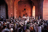 people stock photography | India, Agra, Fatehpur Sikri, Jama Masjid meeting, image id 7-380-4
