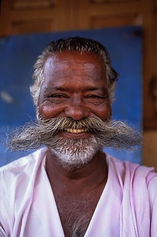 image 7-63-15 India, Trivandrum, Man in market