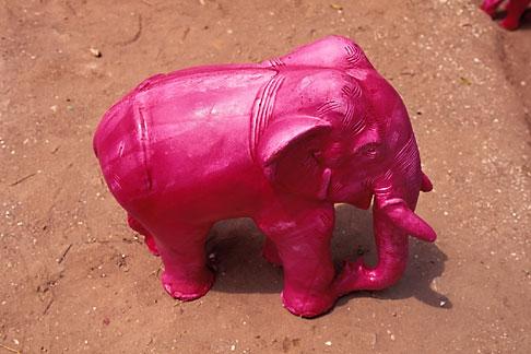 image 7-82-22 Art, Pink elephant, statue