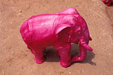 folk art stock photography | Art, Pink elephant, statue, image id 7-82-22