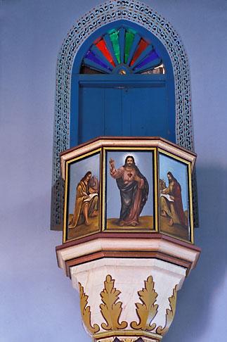image 7-86-29 India, Kerala, Pulpit, St Marys Church, Champakulum