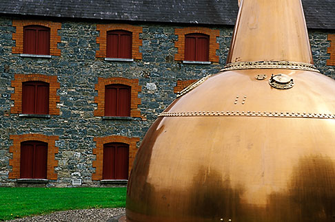 4-750-50  stock photo of Ireland, County Cork, Old Midleton Distillery, Copper vat