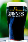 closeup stock photography | Ireland, Glass of Guinness ale, image id 4-751-85