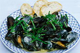plate stock photography | Food, Donegal mussels, image id 4-752-19