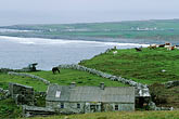 cloudy stock photography | Ireland, County Clare, Doolin, Farm by the sea, image id 4-752-37