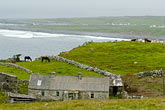 cloudy stock photography | Ireland, County Clare, Doolin, Farm by the sea, image id 4-900-1079