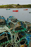 harbour stock photography | Ireland, County Cork, Castletownsend, Fishing nets, image id 4-900-1093