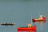 red stock photography | Ireland, County Cork, Castletownsend, Fishing boats, image id 4-900-1102