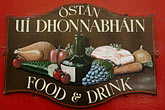 restaurant sign stock photography | Ireland, County Cork, Clonakilty, O