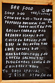 vertical stock photography | Ireland, County Cork, Kinsale, restaurant menu, image id 4-900-1263