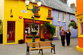 bench stock photography | Ireland, County Cork, Kinsale, street scene, image id 4-900-1273