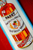red stock photography | Ireland, Dublin, Paddy whiskey sign, image id 4-900-1607
