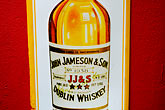 bottle stock photography | Ireland, Dublin, Jameson whiskey sign, image id 4-900-1611