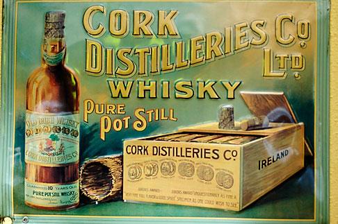 image 4-900-1617 Ireland, Dublin, Cork Distilleries whiskey sign