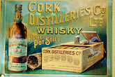 single malt stock photography | Ireland, Dublin, Cork Distilleries whiskey sign, image id 4-900-1617