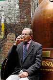 sedentary stock photography | Ireland, Dublin, Old Jameson Distillery, Barry Walsh, Chief Blender, image id 4-900-1708