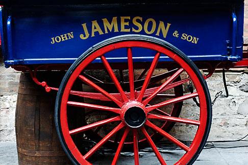 image 4-900-1734 Ireland, Dublin, Old Jameson Distillery, cart