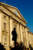 statue stock photography | Ireland, Dublin, Trinity College entrance, image id 4-900-1963