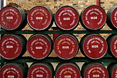 round stock photography | Ireland, County Antrim, Bushmills Distillery, barrels, image id 4-900-473