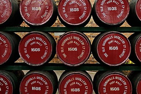 image 4-900-475 Ireland, County Antrim, Bushmills Distillery, barrels