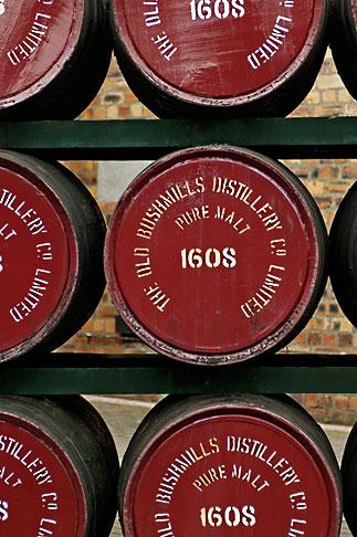 image 4-900-476 Ireland, County Antrim, Bushmills Distillery, barrels