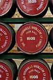 round stock photography | Ireland, County Antrim, Bushmills Distillery, barrels, image id 4-900-476