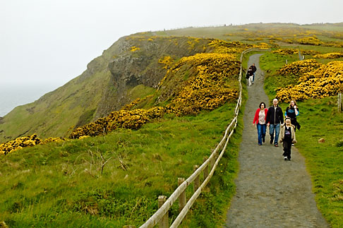 image 4-900-654 Ireland, County Antrim, North Antrim Cliff Path at Giants Causeway