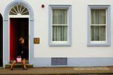 one person stock photography | Ireland, Fermanagh, Enniskillen street scene, image id 4-900-712