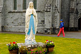 blue stock photography | Ireland, County Clare, Ballyvaughan, Statue of Mary, image id 4-900-938