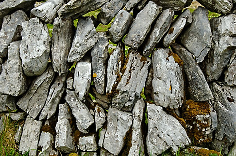 image 4-900-955 Ireland, County Clare, Stone wall on the Burren