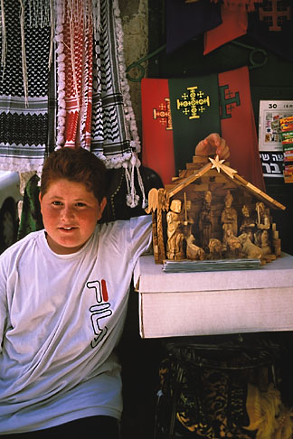 image 9-340-93 Israel, Jerusalem, Young boy at street stall