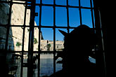 one person stock photography | Israel, Jerusalem, Looking out on the Western Wall, image id 9-350-13