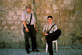 one person stock photography | Israel, Jerusalem, Guards, Western Wall Tunnel, image id 9-350-16