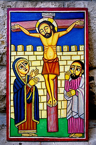 image 9-360-12 Icon of Christ on the Cross by Livanus Setatou