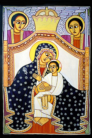 image 9-360-13 Icon of Mary and Jesus by Livanus Setatou