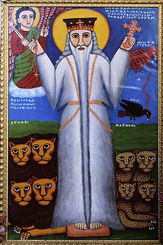 image 9-360-21 Israel, Jerusalem, Icon by Livanus Setatou, Ethiopian Orthodox Church