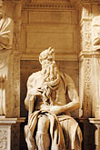 religion stock photography | Italy, Rome, Moses by Michelangelo, San Pietro in Vincoli, image id S4-500-3489