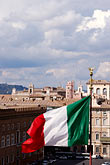 vertical stock photography | Italy, Rome, Flag of Italy, image id S4-500-3729