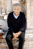one person stock photography | Italy, Rome, Old Man, image id S4-500-3801