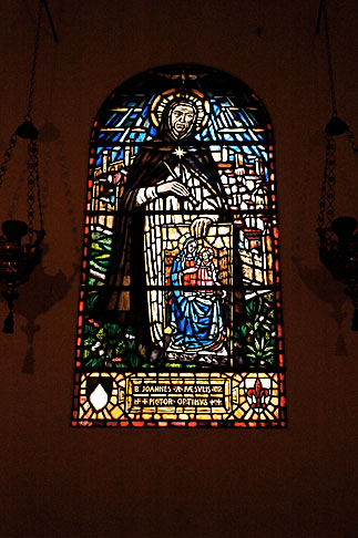image S4-500-3846 Italy, Rome, Stained Glass Window, Santa Maria Sopra Minerva