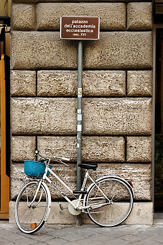 image S4-500-3862 Italy, Rome, Bicycle with Sign