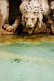stone lion stock photography | Italy, Rome, Detail, Fountain of the Four Rivers by Bernini, Piazza Navona, image id S4-500-3968