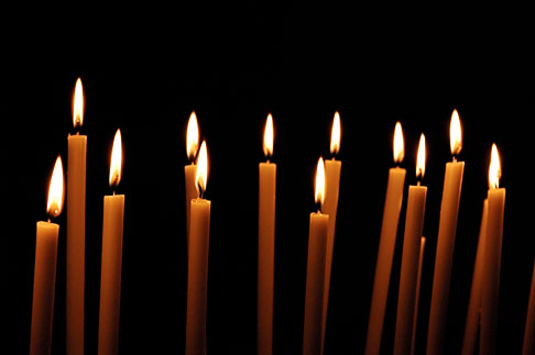image S4-501-4121 Italy, Rome, Candles, Santa Prassede