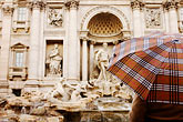 umbrella stock photography | Italy, Rome, Trevi Fountain, image id S4-501-4197