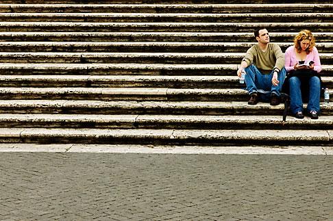 image S4-501-4383 Italy, Rome, Spanish Steps or Scalinata di Trinita dei Monti