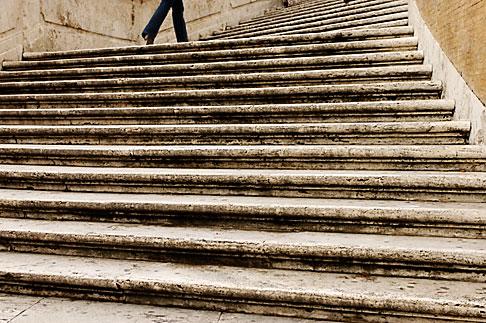 image S4-501-4395 Italy, Rome, Spanish Steps or Scalinata di Trinita dei Monti