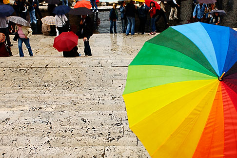image S4-501-4601 Italy, Rome, Umbrella, Spanish Steps