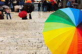 people stock photography | Italy, Rome, Umbrella, Spanish Steps, image id S4-501-4601